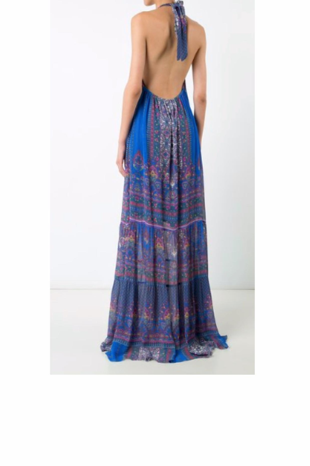 Nicole Miller Abstract Maxi Dress - Front Full Image