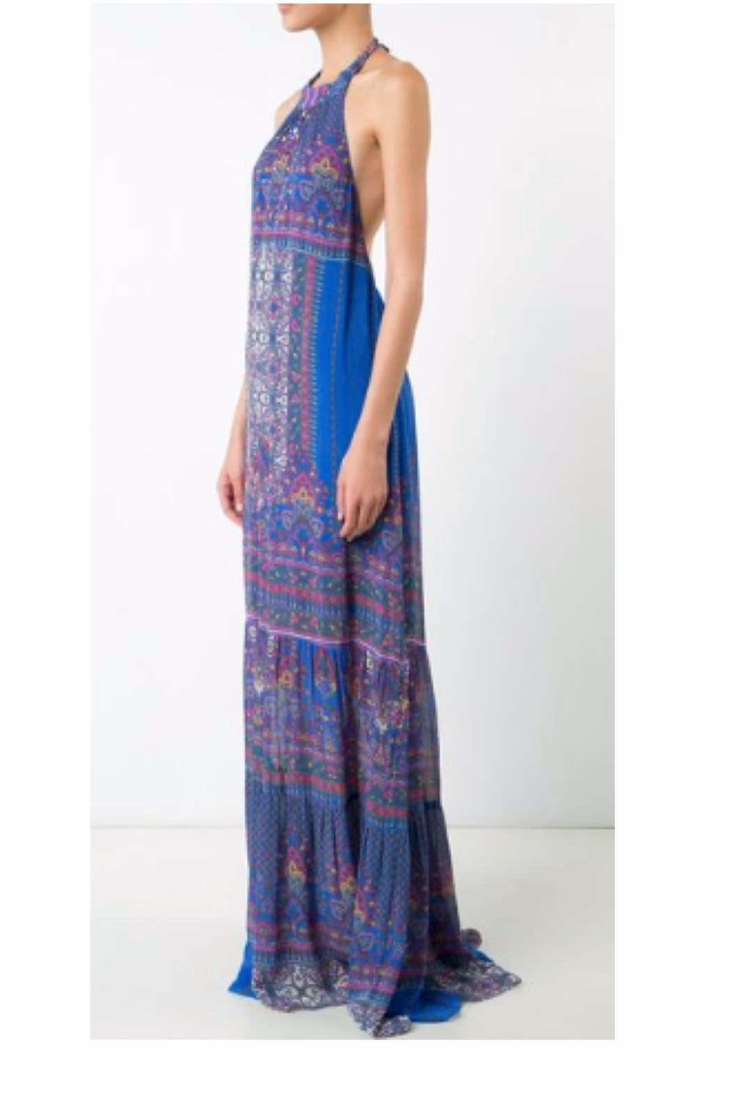 Nicole Miller Abstract Maxi Dress - Side Cropped Image