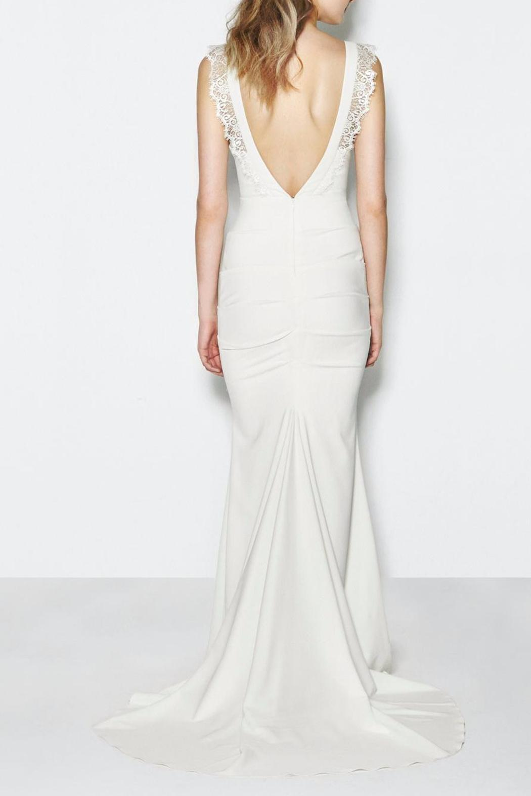 Nicole miller alexis gown from nevada by swoon shoptiques for Nicole miller beach wedding dress