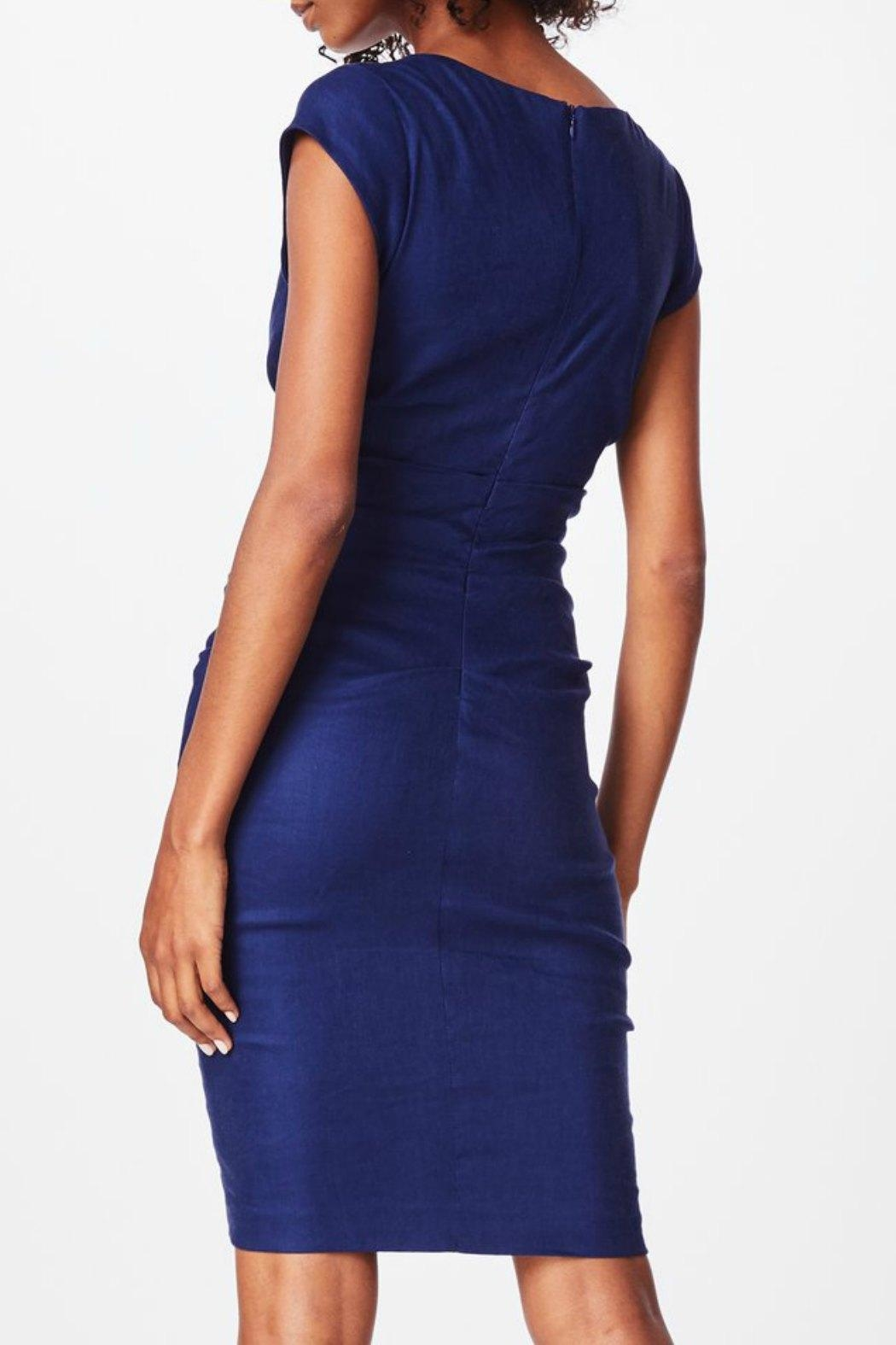 Nicole Miller Cap Sleeve Dress - Front Full Image