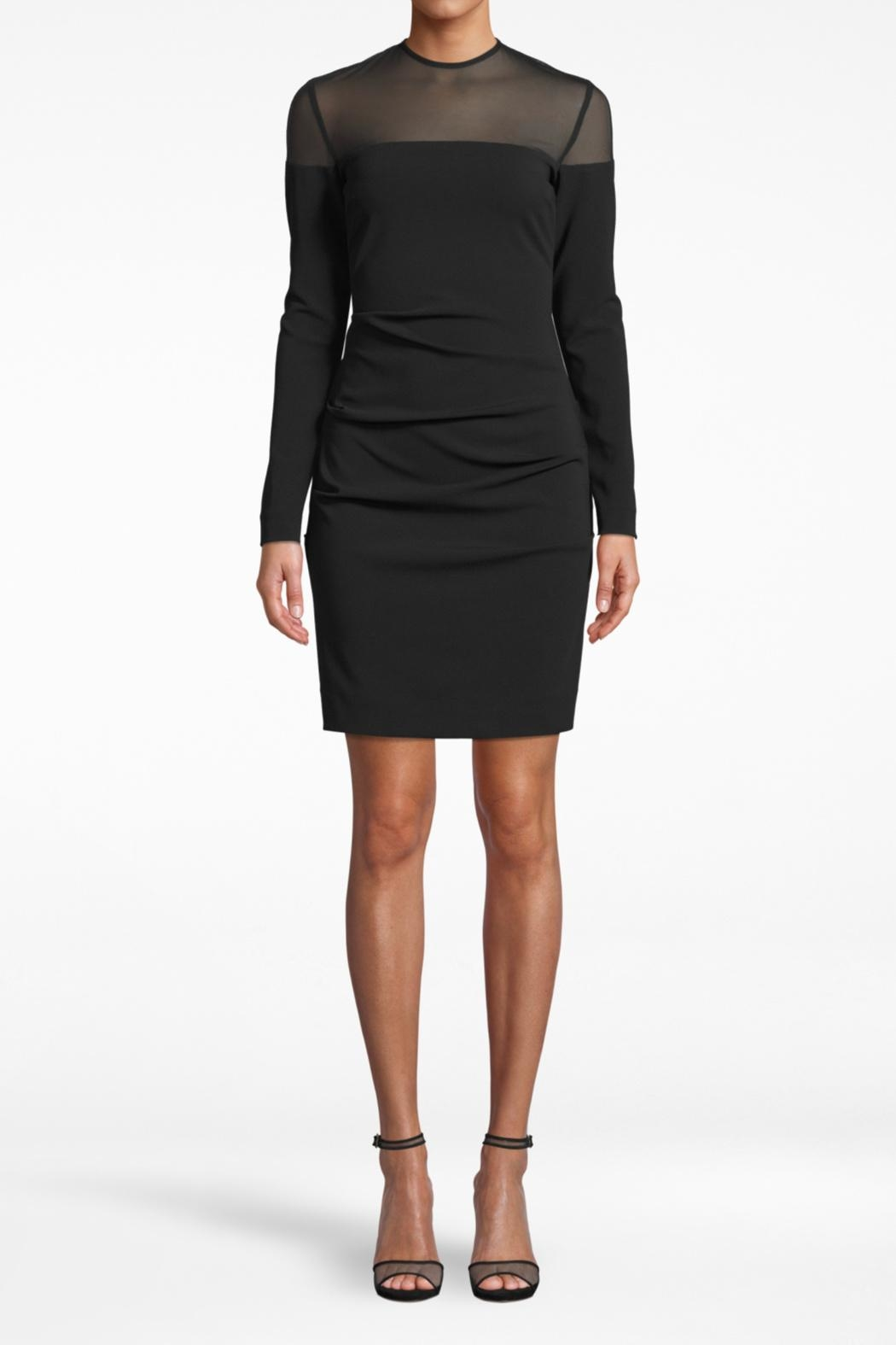 Nicole Miller Combo Long-Sleeve Dress - Front Cropped Image