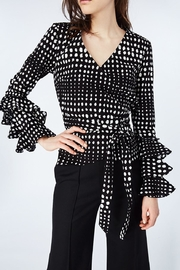 Nicole Miller Dotty Wrap Top - Product Mini Image