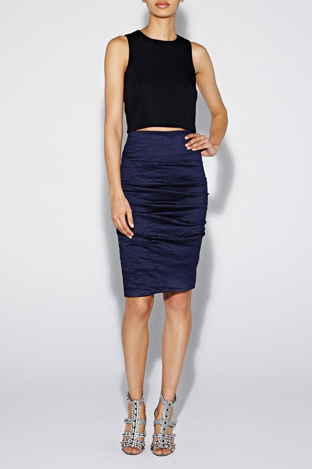 Nicole Miller Flattering Pencil Skirt - Front Cropped Image