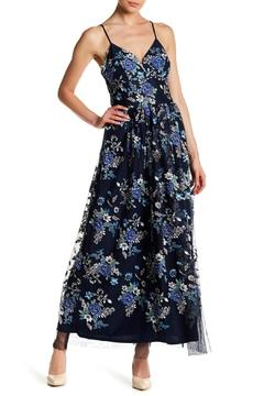 Nicole Miller Floral Print V-Neck Dress - Alternate List Image