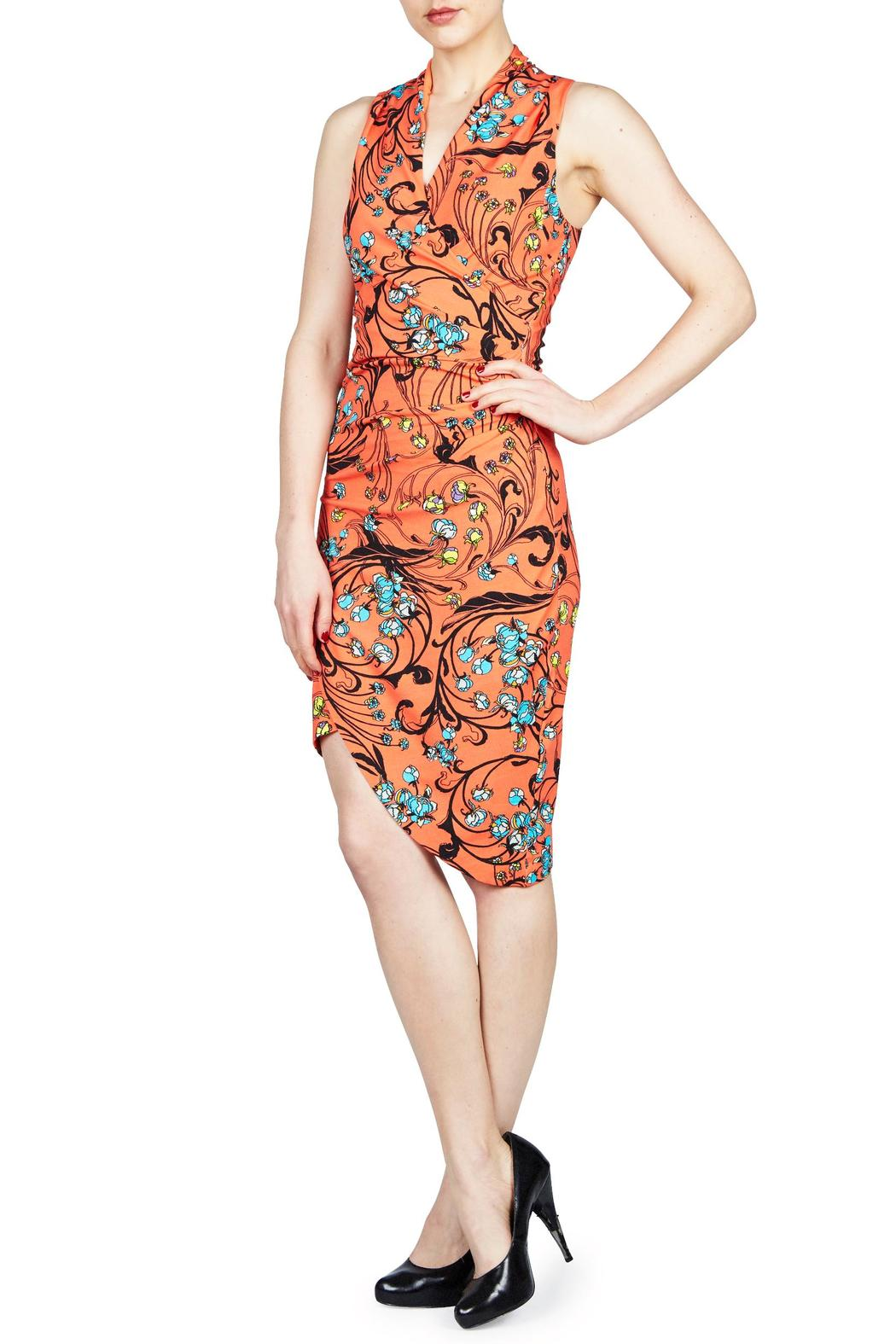Nicole Miller Floral Swirl Tuck - Main Image