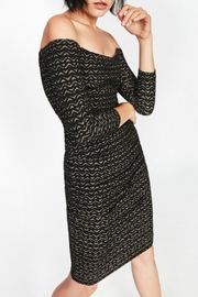 Nicole Miller Gold Zig-Zag Dress - Front cropped