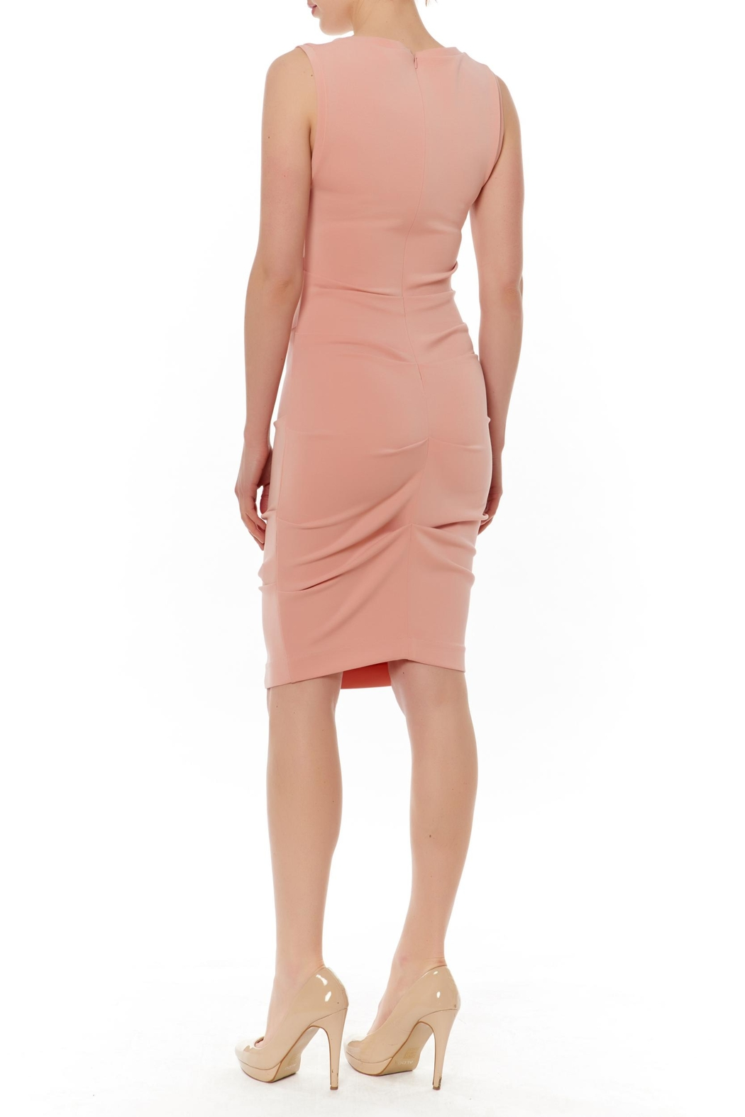 Nicole Miller Jersey Ruched Dress - Front Full Image