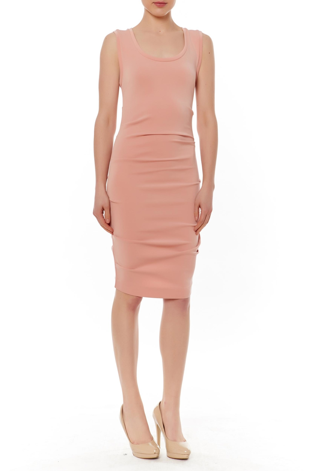 Nicole Miller Jersey Ruched Dress - Main Image