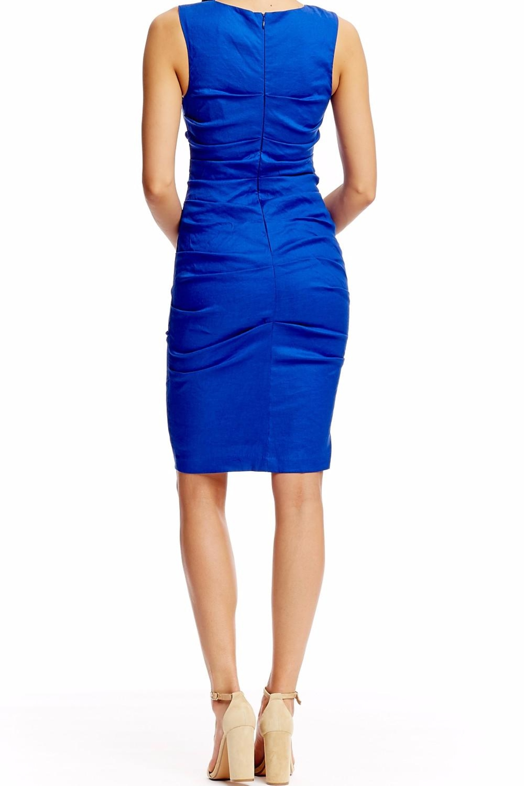 Nicole Miller Lauren Stretch Dress - Side Cropped Image