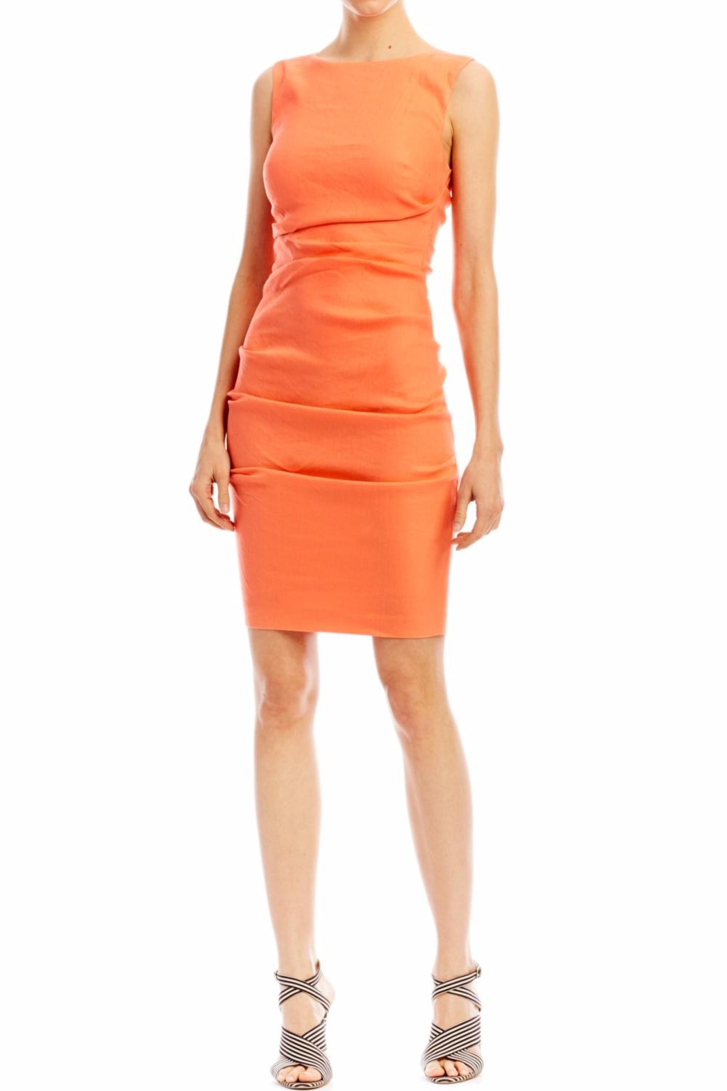 Nicole Miller Lauren Stretch Dress - Front Cropped Image