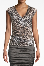 Nicole Miller Leopard Logan Top - Front cropped