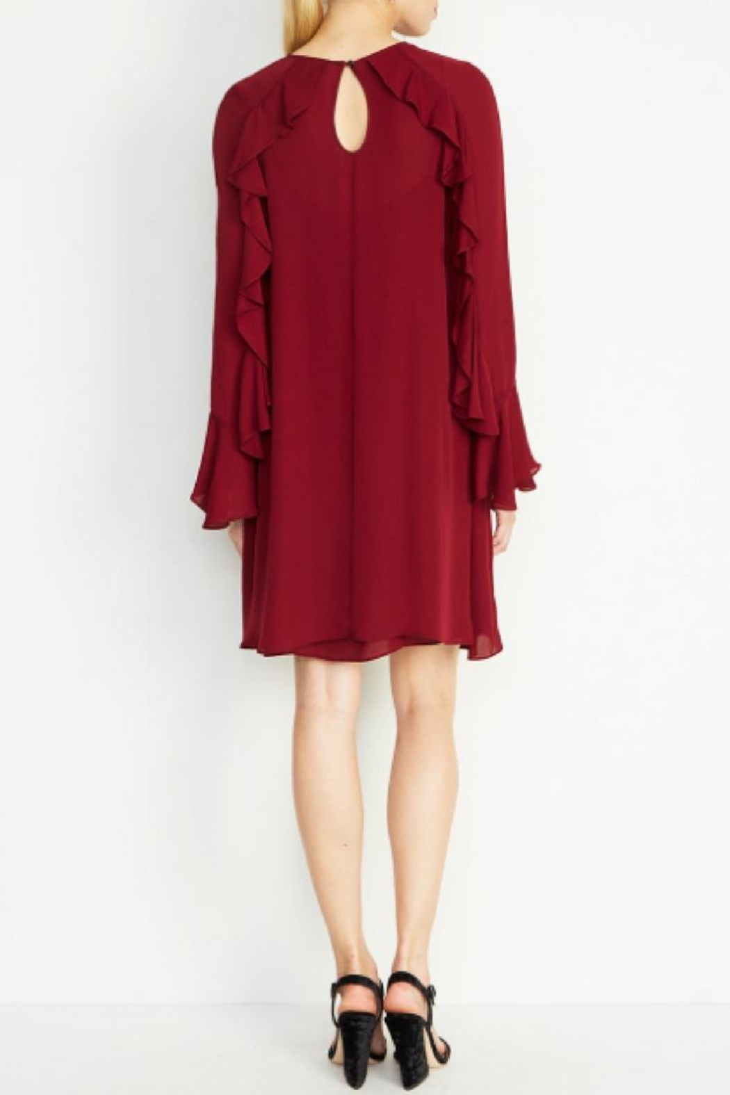 Nicole Miller Lera Bell-Sleeve Dress - Front Full Image