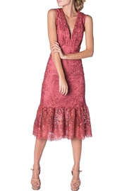 Nicole Miller Midi Coral Lace - Front cropped