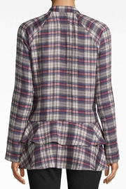 Nicole Miller Plaid Ruffle Shirt - Front full body