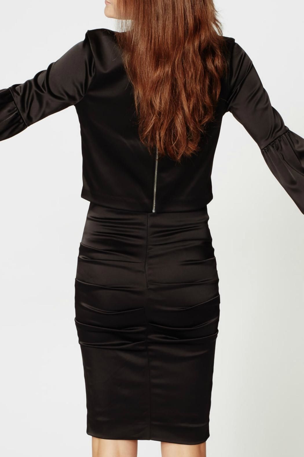 Nicole Miller Satin Ruched Skirt - Front Full Image
