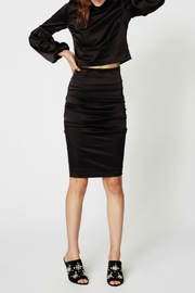 Nicole Miller Satin Ruched Skirt - Product Mini Image