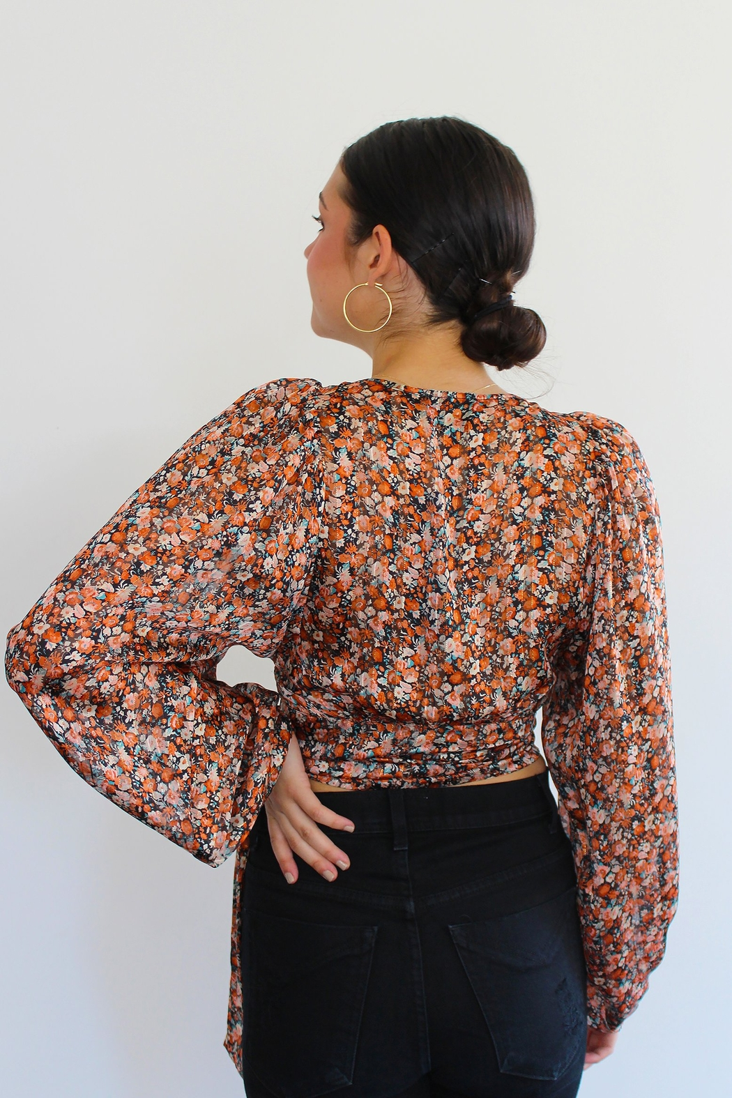 RESET BY JANE Nicolette Wrap Top - Side Cropped Image