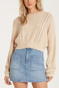 Billabong Night Falls Cable Knit Sweater - Product List Image
