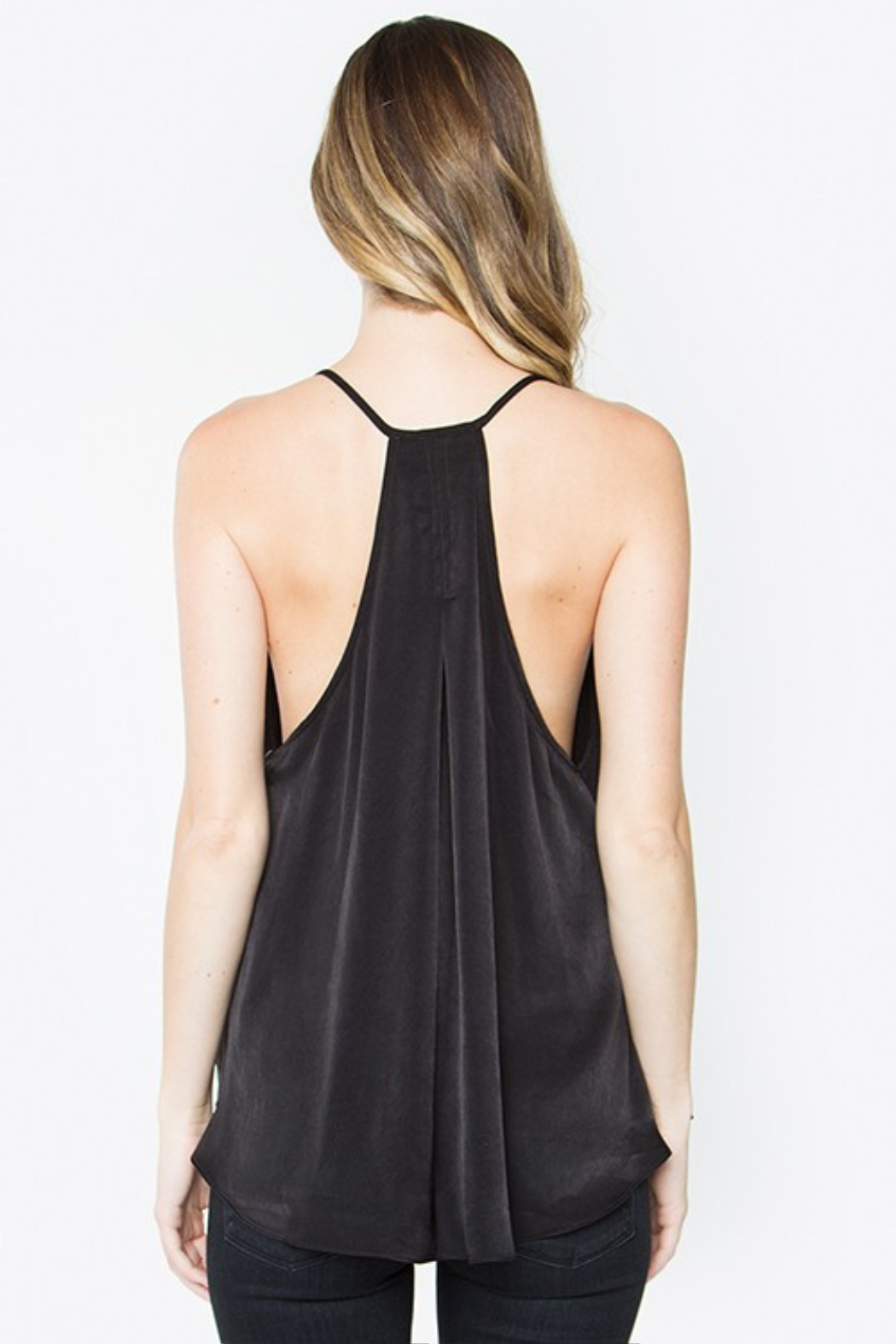 R+D emporium  Night Out Drape Top - Side Cropped Image