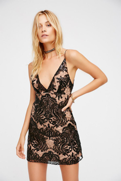 Free People Night Shimmers Mini Dress - Product List Image