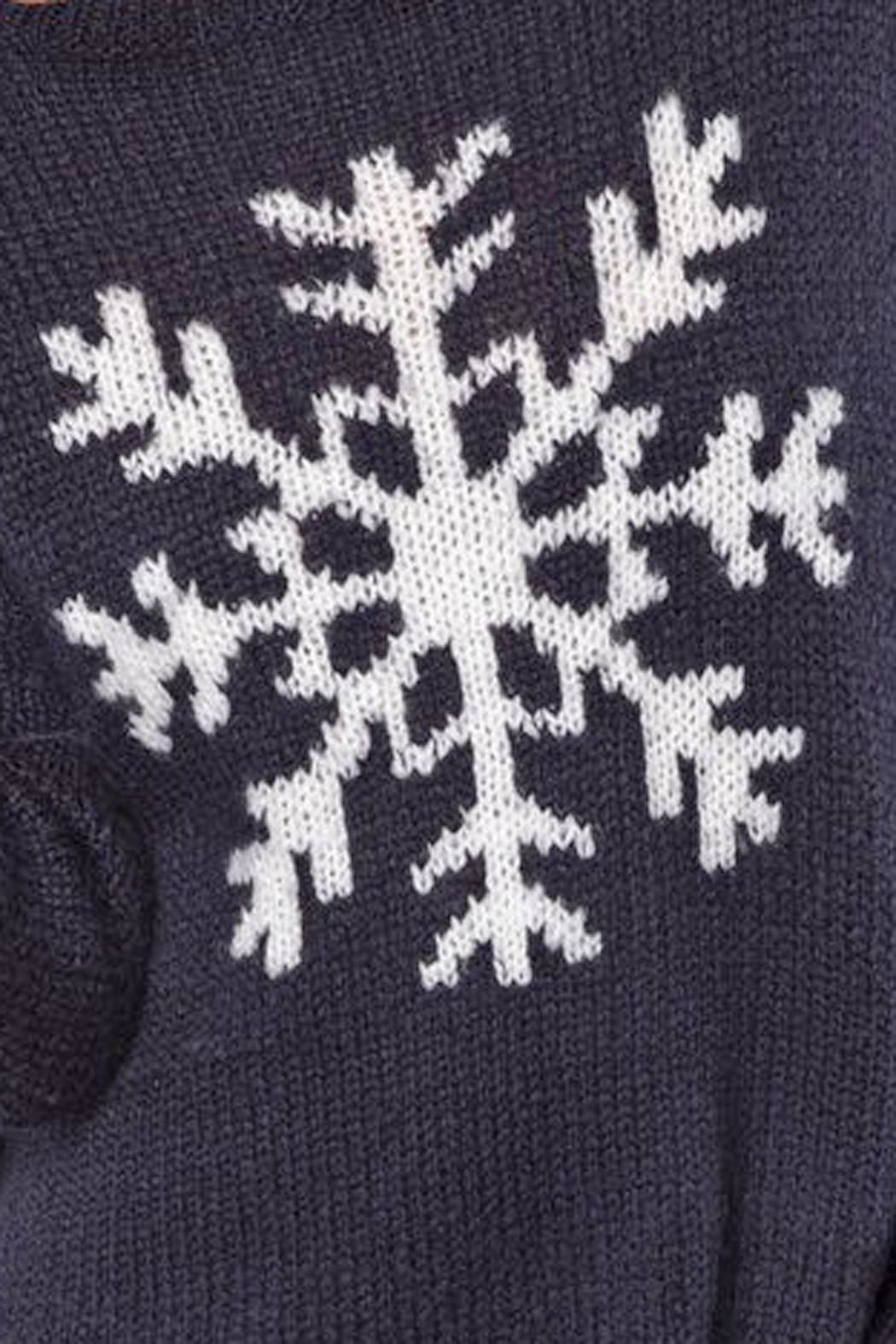 Wooden Ships Night Snowflake Crewneck - Side Cropped Image
