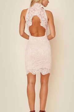 Nightcap Clothing Blush Lace Mini Dress - Alternate List Image