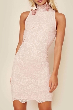 Nightcap Clothing Blush Lace Mini Dress - Product List Image
