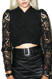 NIGHTWALKER Twisted Lace Cropped - Product Mini Image
