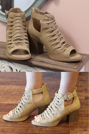 fortune dynamic Nihal Woven Booties - Front cropped