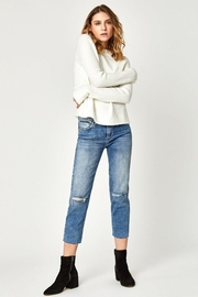 Mavi Jeans Niki-Straight-Crop In Light-Ripped-Vintage - Product Mini Image