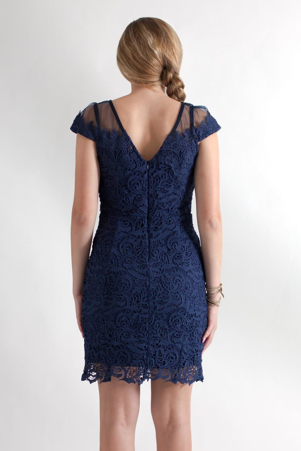 Nikibiki Beaded Lace Dress - Back Cropped Image