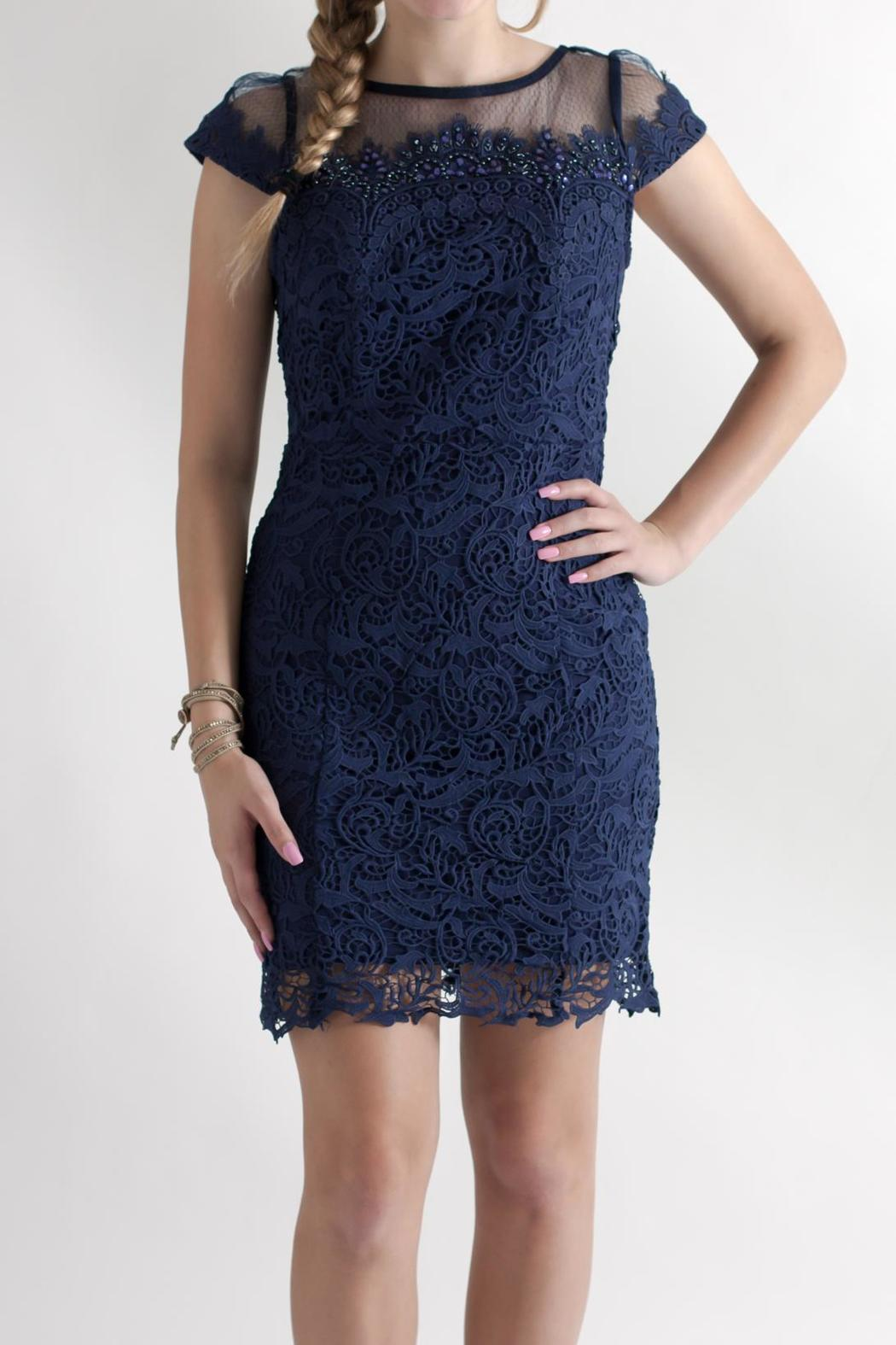 Nikibiki Beaded Lace Dress - Front Full Image