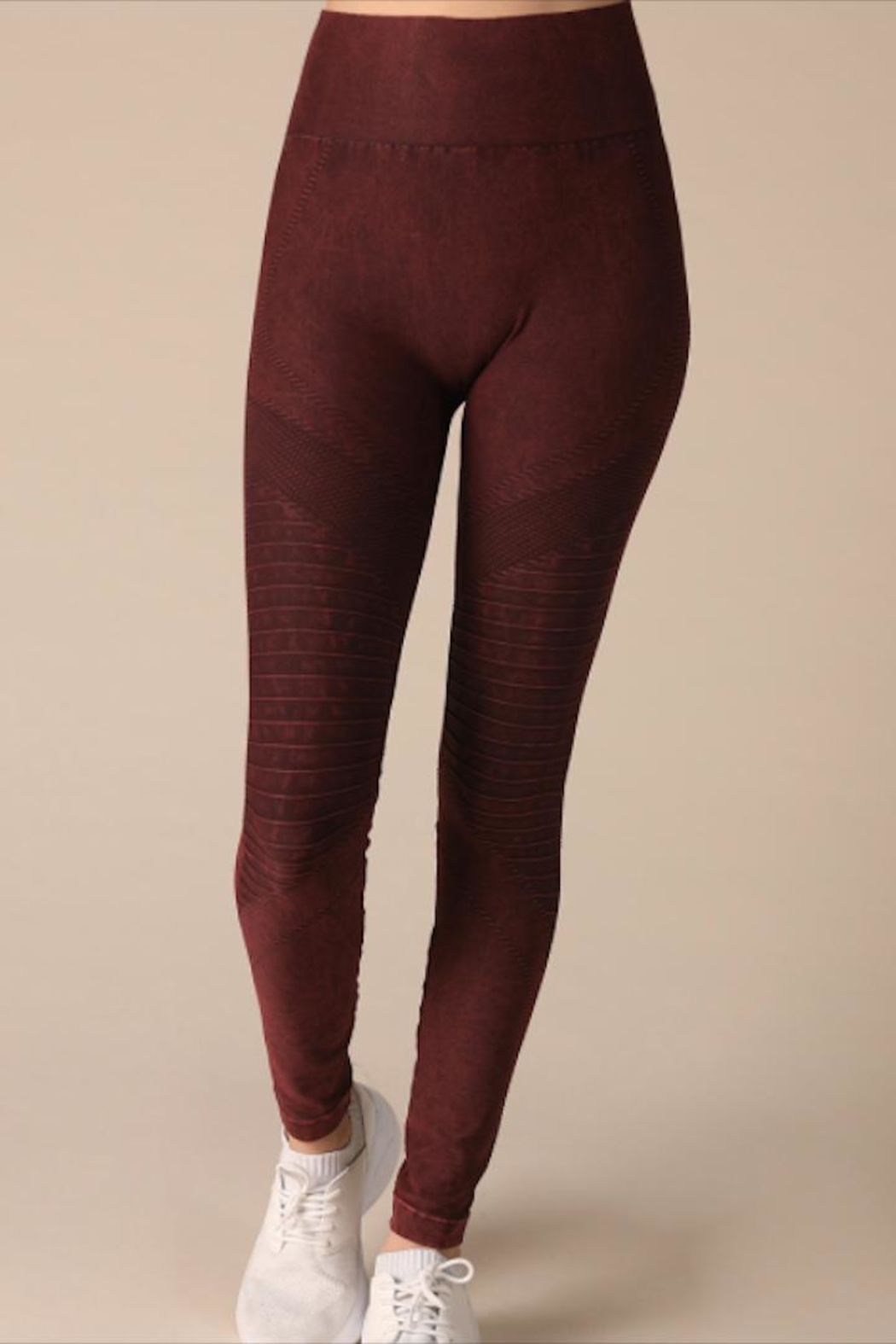 Nikibiki Burgundy High-Waist Jegging - Main Image