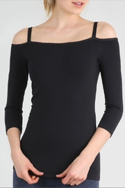 Nikibiki Cold Shoulder Basic Top - Front cropped