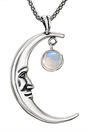 Tiger Mountain Cresent Moonstone Necklace - Product Mini Image