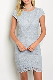 Nikibiki Grey Crochet Dress - Product Mini Image