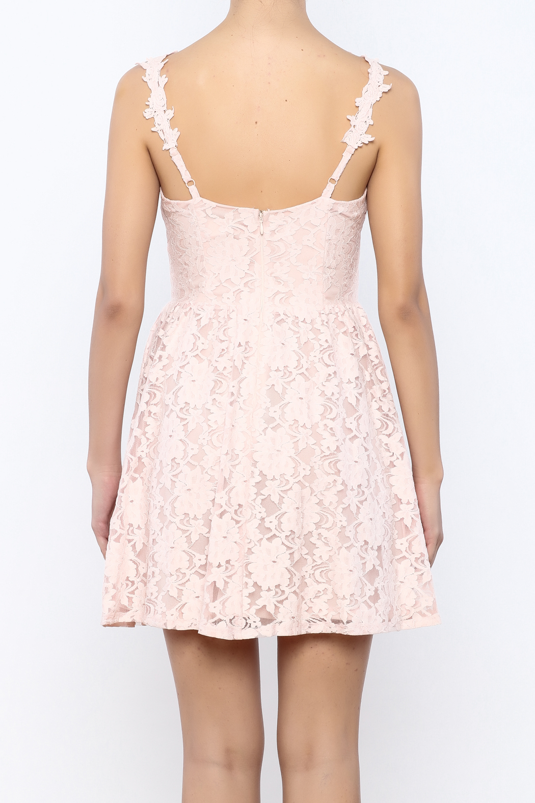 Nikibiki Lace Floral Dress - Back Cropped Image