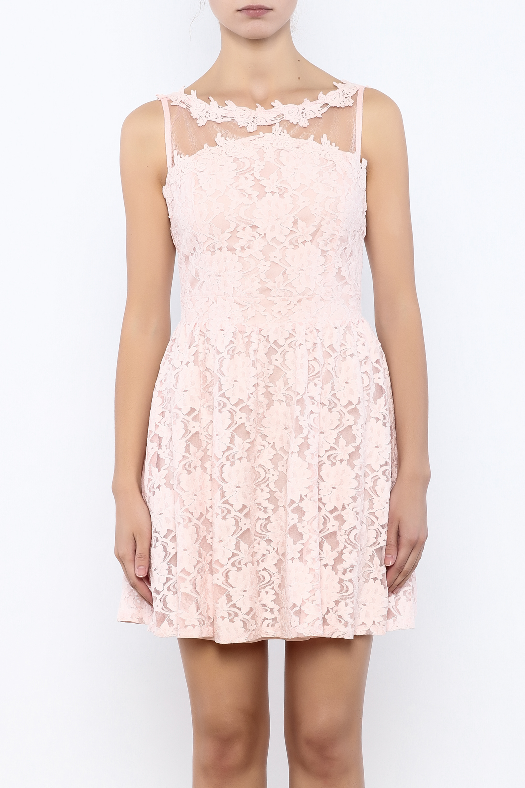Nikibiki Lace Floral Dress - Side Cropped Image