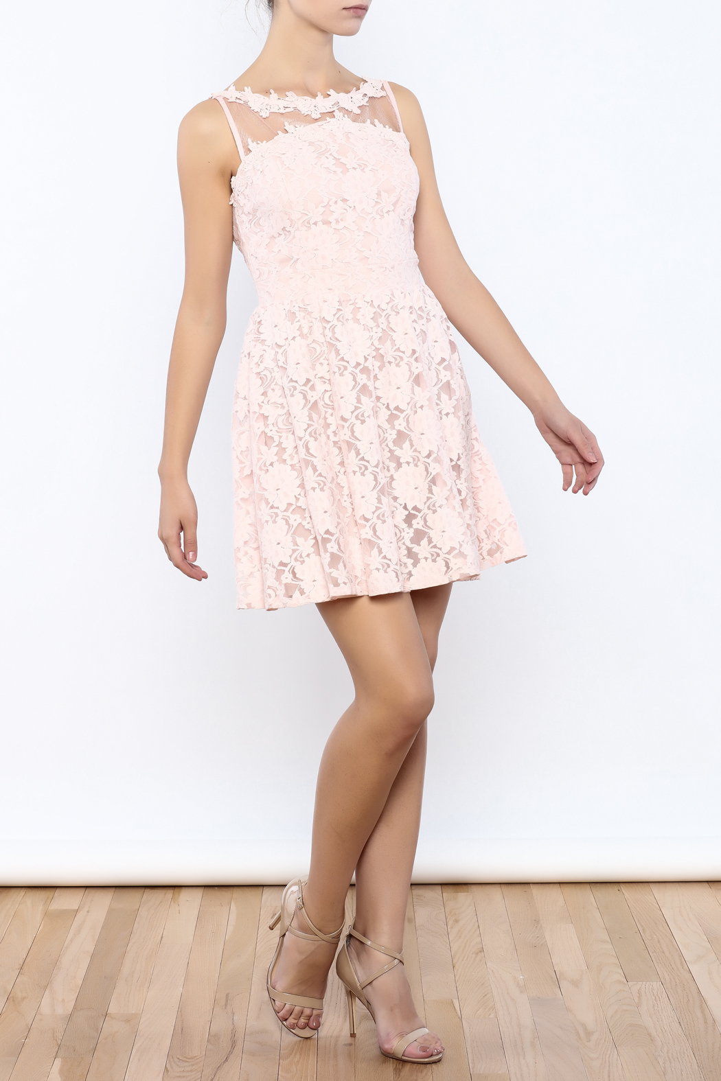Nikibiki Lace Floral Dress - Front Full Image