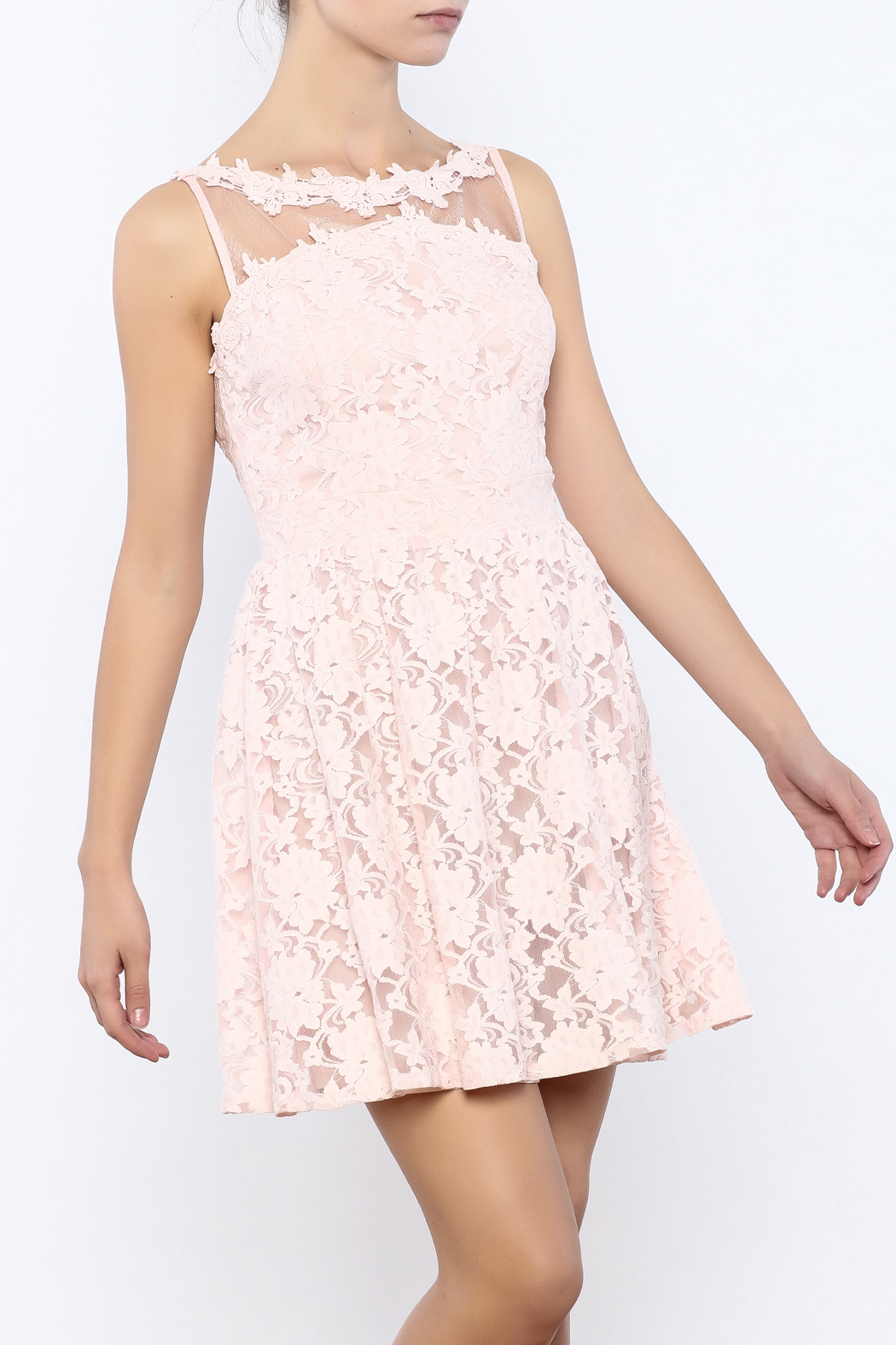 Nikibiki Lace Floral Dress - Front Cropped Image