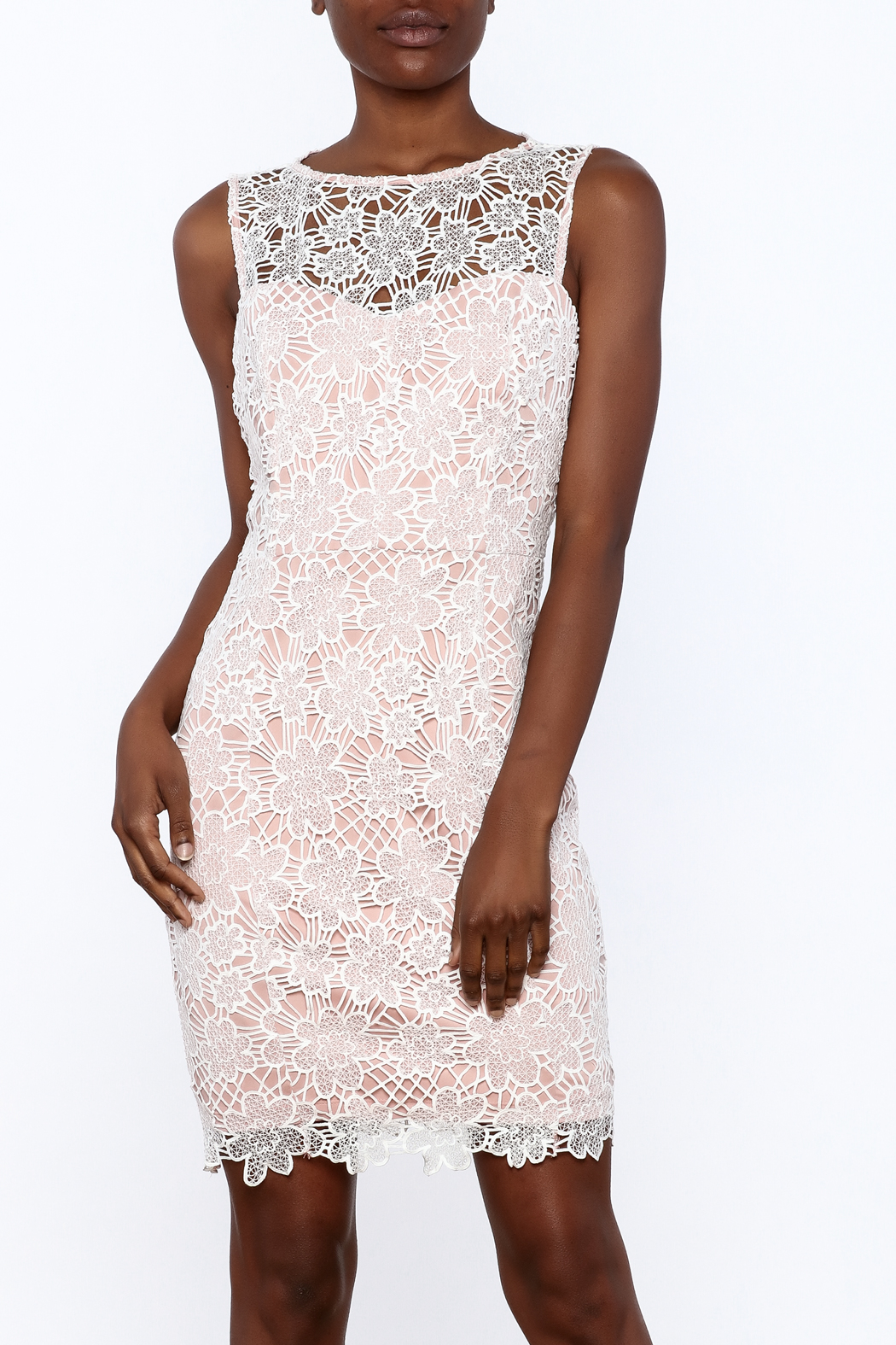 Nikibiki Lace Sheath Dress - Front Cropped Image