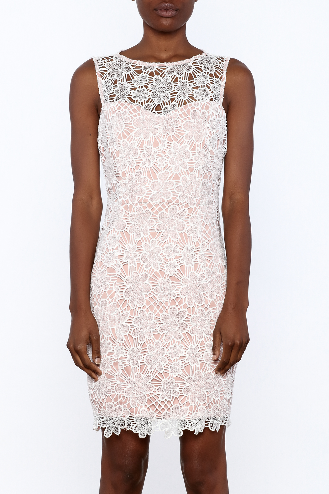 Nikibiki Lace Sheath Dress - Side Cropped Image