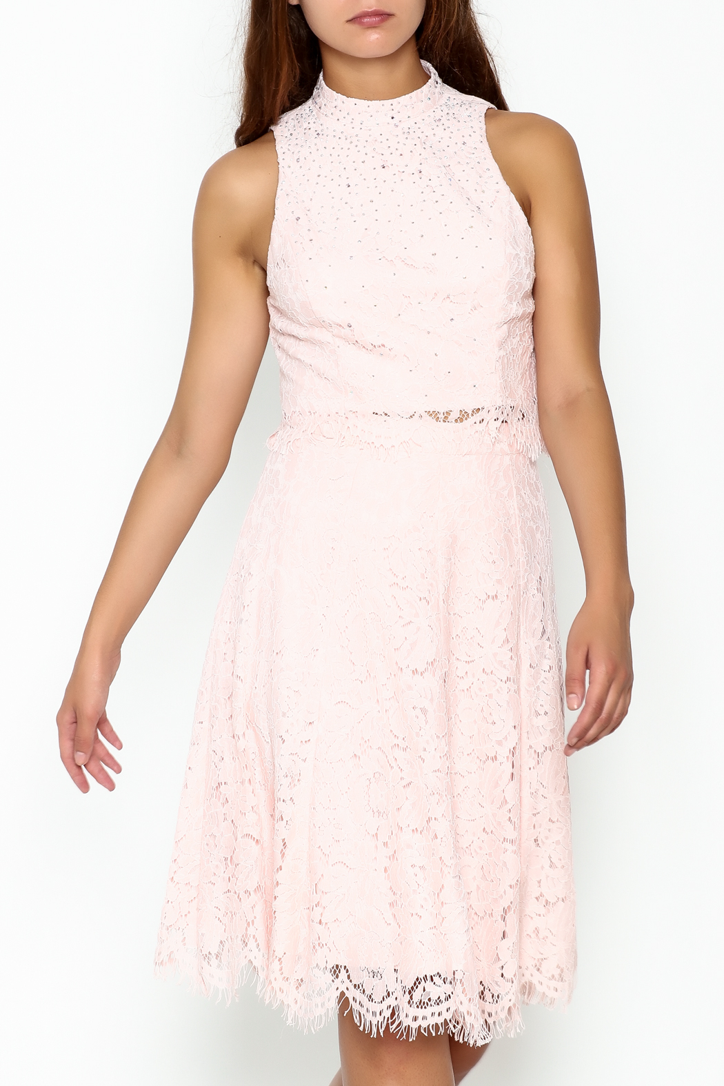 Nikibiki Lace Two Piece Dress - Front Cropped Image