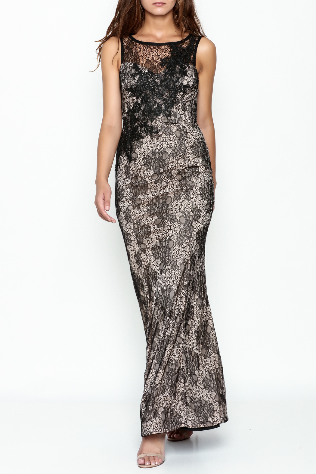 Nikibiki Long Lace Dress - Main Image