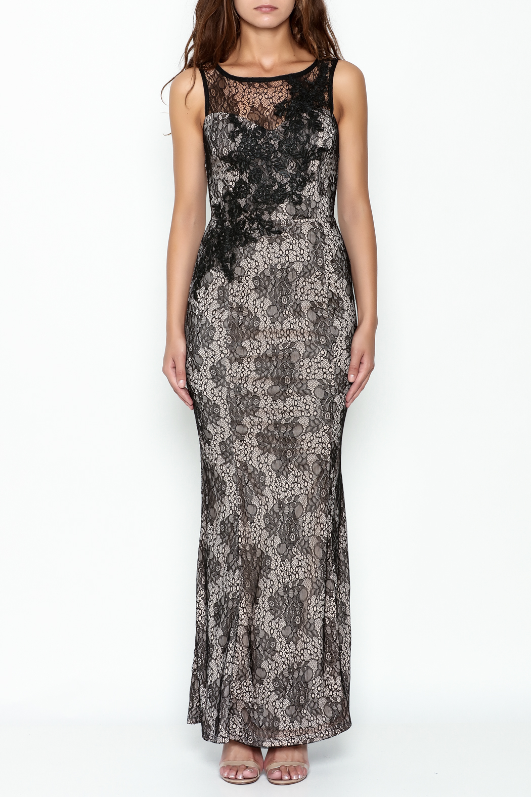 Nikibiki Long Lace Dress - Front Full Image