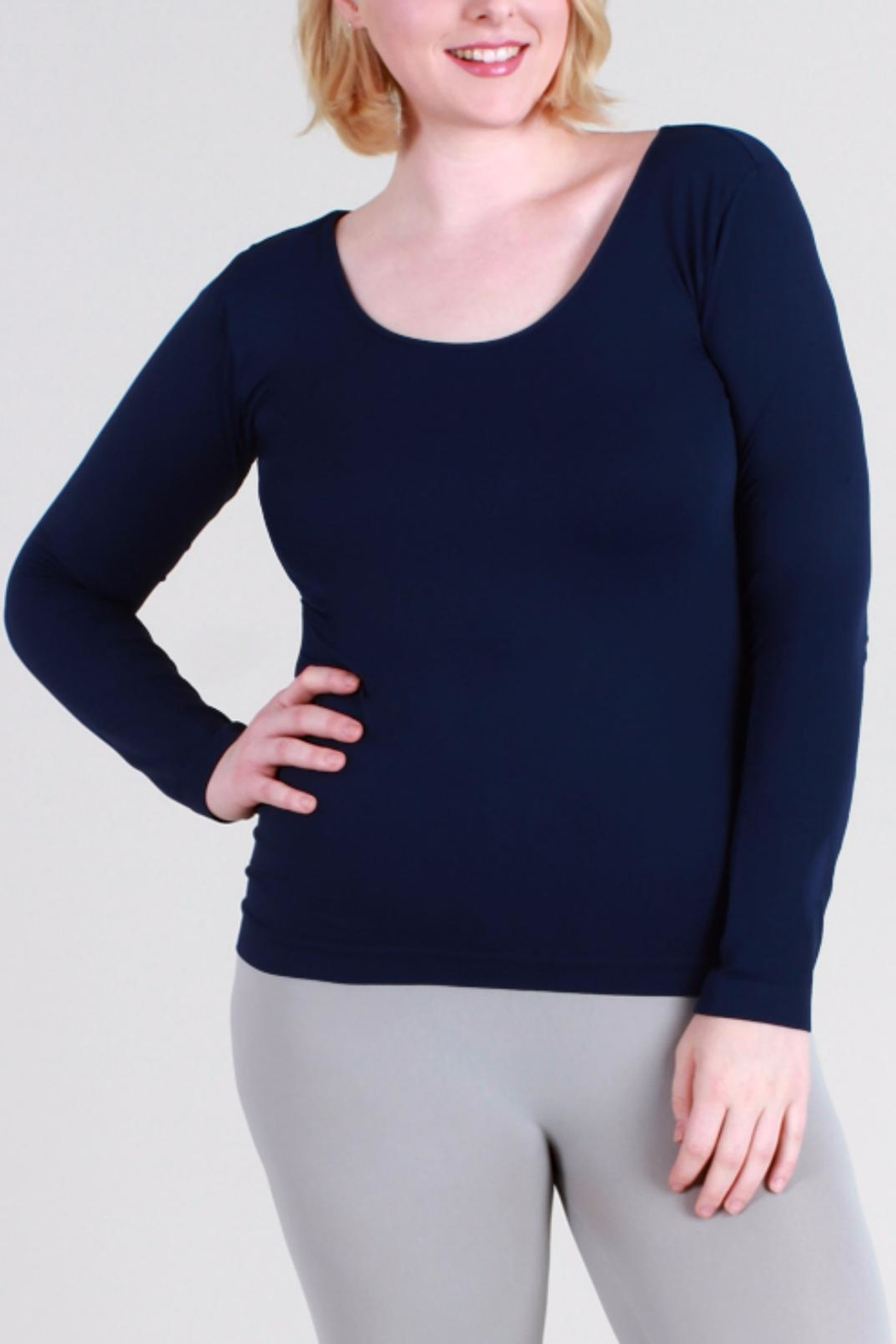 Nikibiki Long-Sleeve Camisole - Plus-Size - Front Cropped Image