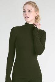 Nikibiki Long Sleeve Mock Neck Top - Front cropped