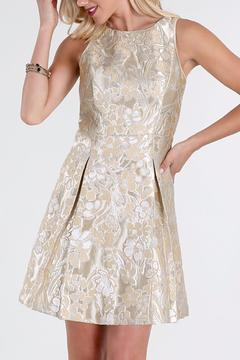 Shoptiques Product: Metallic Jaquard Dress