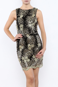 Shoptiques Product: Metallic Lace Dress