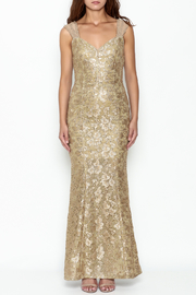 Nikibiki Gold Lace Dress - Front full body